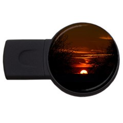 Sunset Sun Fireball Setting Sun Usb Flash Drive Round (4 Gb) by Simbadda