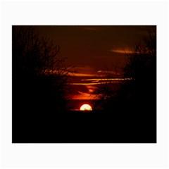 Sunset Sun Fireball Setting Sun Small Glasses Cloth (2 Side) by Simbadda