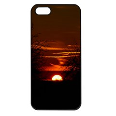 Sunset Sun Fireball Setting Sun Apple Iphone 5 Seamless Case (black) by Simbadda