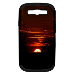 Sunset Sun Fireball Setting Sun Samsung Galaxy S Iii Hardshell Case (pc+silicone) by Simbadda