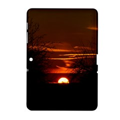 Sunset Sun Fireball Setting Sun Samsung Galaxy Tab 2 (10 1 ) P5100 Hardshell Case  by Simbadda
