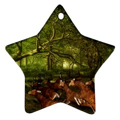 Red Deer Deer Roe Deer Antler Ornament (star) by Simbadda