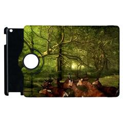 Red Deer Deer Roe Deer Antler Apple Ipad 2 Flip 360 Case by Simbadda
