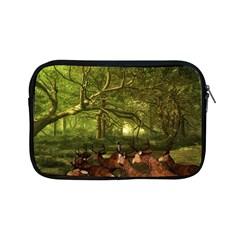 Red Deer Deer Roe Deer Antler Apple Ipad Mini Zipper Cases by Simbadda