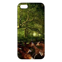 Red Deer Deer Roe Deer Antler Iphone 5s/ Se Premium Hardshell Case by Simbadda