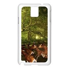 Red Deer Deer Roe Deer Antler Samsung Galaxy Note 3 N9005 Case (white) by Simbadda