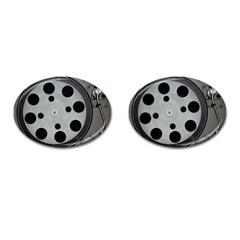 Turntable Record System Tones Cufflinks (oval) by Simbadda