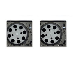 Turntable Record System Tones Cufflinks (square) by Simbadda