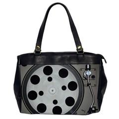Turntable Record System Tones Office Handbags (2 Sides)  by Simbadda