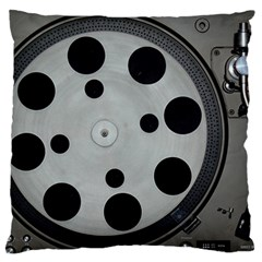 Turntable Record System Tones Large Cushion Case (two Sides) by Simbadda