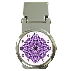 Mandala Purple Mandalas Balance Money Clip Watches by Simbadda