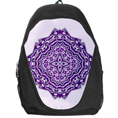 Mandala Purple Mandalas Balance Backpack Bag by Simbadda