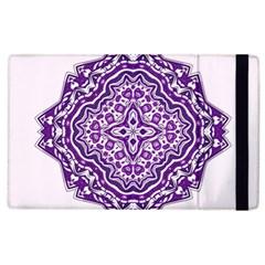Mandala Purple Mandalas Balance Apple Ipad 2 Flip Case by Simbadda