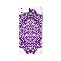 Mandala Purple Mandalas Balance Apple Iphone 5 Classic Hardshell Case (pc+silicone) by Simbadda