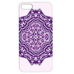 Mandala Purple Mandalas Balance Apple Iphone 5 Hardshell Case With Stand by Simbadda