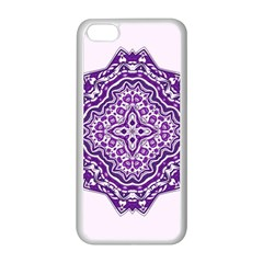 Mandala Purple Mandalas Balance Apple Iphone 5c Seamless Case (white) by Simbadda
