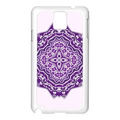 Mandala Purple Mandalas Balance Samsung Galaxy Note 3 N9005 Case (white) by Simbadda