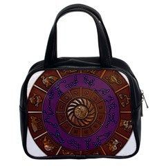 Zodiak Zodiac Sign Metallizer Art Classic Handbags (2 Sides) by Simbadda