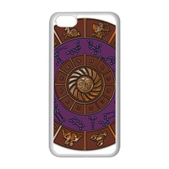 Zodiak Zodiac Sign Metallizer Art Apple Iphone 5c Seamless Case (white) by Simbadda