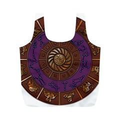Zodiak Zodiac Sign Metallizer Art Full Print Recycle Bags (m)  by Simbadda