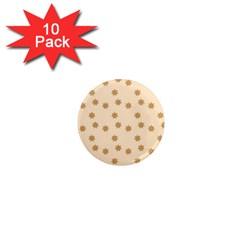 Pattern Gingerbread Star 1  Mini Magnet (10 Pack)  by Simbadda