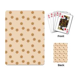 Pattern Gingerbread Star Playing Card by Simbadda