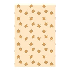 Pattern Gingerbread Star Shower Curtain 48  X 72  (small)  by Simbadda