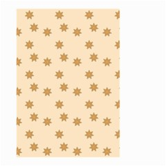 Pattern Gingerbread Star Small Garden Flag (two Sides) by Simbadda