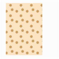 Pattern Gingerbread Star Large Garden Flag (two Sides) by Simbadda