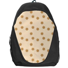 Pattern Gingerbread Star Backpack Bag by Simbadda