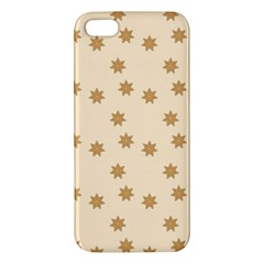 Pattern Gingerbread Star Apple Iphone 5 Premium Hardshell Case by Simbadda