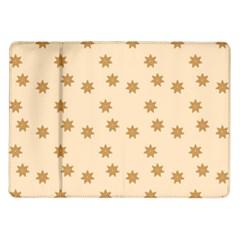 Pattern Gingerbread Star Samsung Galaxy Tab 10.1  P7500 Flip Case by Simbadda