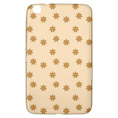 Pattern Gingerbread Star Samsung Galaxy Tab 3 (8 ) T3100 Hardshell Case  by Simbadda