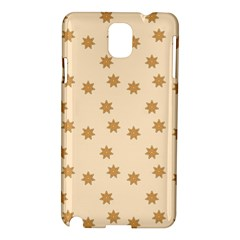 Pattern Gingerbread Star Samsung Galaxy Note 3 N9005 Hardshell Case by Simbadda