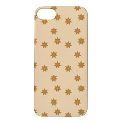 Pattern Gingerbread Star Apple Iphone 5s/ Se Hardshell Case by Simbadda