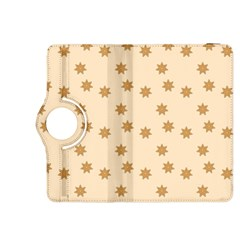 Pattern Gingerbread Star Kindle Fire Hdx 8 9  Flip 360 Case by Simbadda