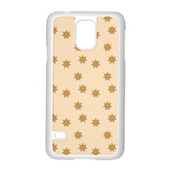 Pattern Gingerbread Star Samsung Galaxy S5 Case (white) by Simbadda