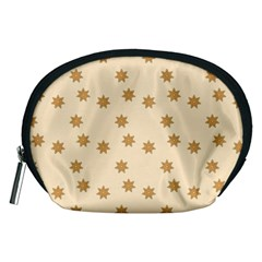 Pattern Gingerbread Star Accessory Pouches (medium)  by Simbadda
