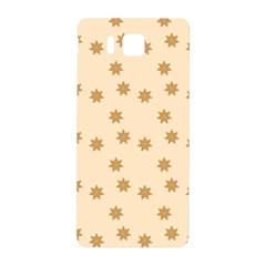 Pattern Gingerbread Star Samsung Galaxy Alpha Hardshell Back Case by Simbadda