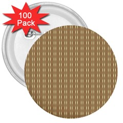 Pattern Background Brown Lines 3  Buttons (100 Pack)  by Simbadda