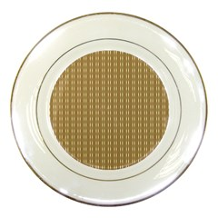 Pattern Background Brown Lines Porcelain Plates by Simbadda