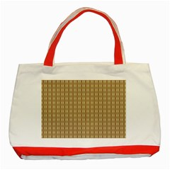 Pattern Background Brown Lines Classic Tote Bag (red) by Simbadda