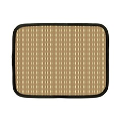 Pattern Background Brown Lines Netbook Case (small)  by Simbadda