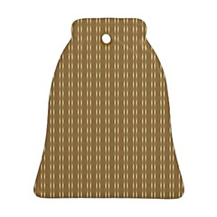 Pattern Background Brown Lines Bell Ornament (two Sides) by Simbadda