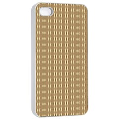 Pattern Background Brown Lines Apple Iphone 4/4s Seamless Case (white) by Simbadda