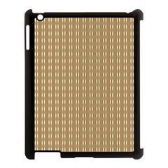 Pattern Background Brown Lines Apple Ipad 3/4 Case (black) by Simbadda