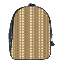 Pattern Background Brown Lines School Bags (xl)  by Simbadda