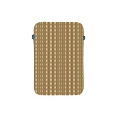 Pattern Background Brown Lines Apple Ipad Mini Protective Soft Cases by Simbadda