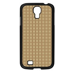 Pattern Background Brown Lines Samsung Galaxy S4 I9500/ I9505 Case (black) by Simbadda
