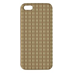 Pattern Background Brown Lines Iphone 5s/ Se Premium Hardshell Case by Simbadda